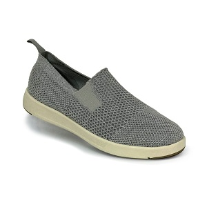 women's merino wool grey slip on