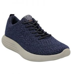 women's wool trainer in navy