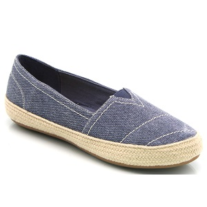 women's slip on denim espadrill
