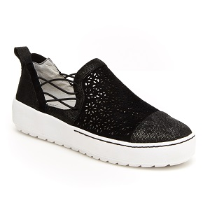 women's black slip on fashion sneaker