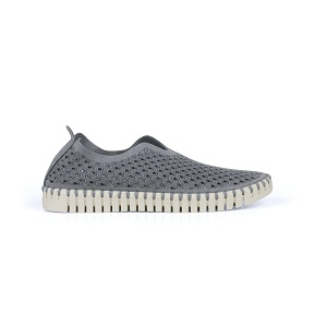 women's grey athliesure comfort slip-on shoe