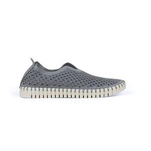 women's grey athliesure comfort slip-on shoe