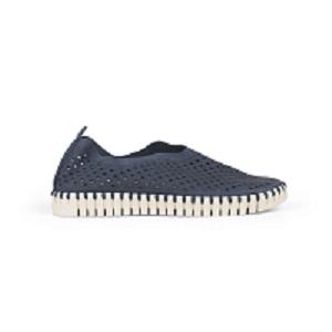 women's navy comfort athliesure shoe