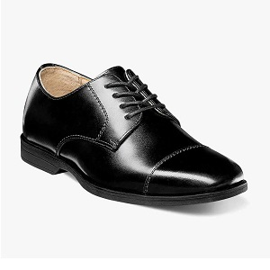 boys' black leather dress shoe