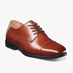 boys cognac lace up dress shoe
