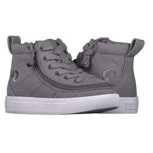 kids full zip high top sneaker with laces