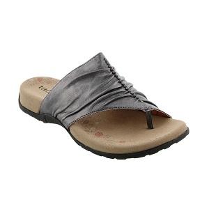 women's pewter thong comfort sandal