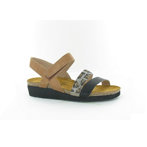 women's cork and latex footbed low wedge sandal