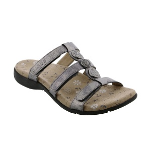 women's adjustable strap pewter sandal