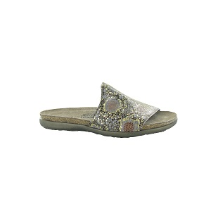 women's cork footbed leather slide
