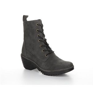 women's lace up side zip boot