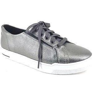 ladies pewter lace up sneaker
